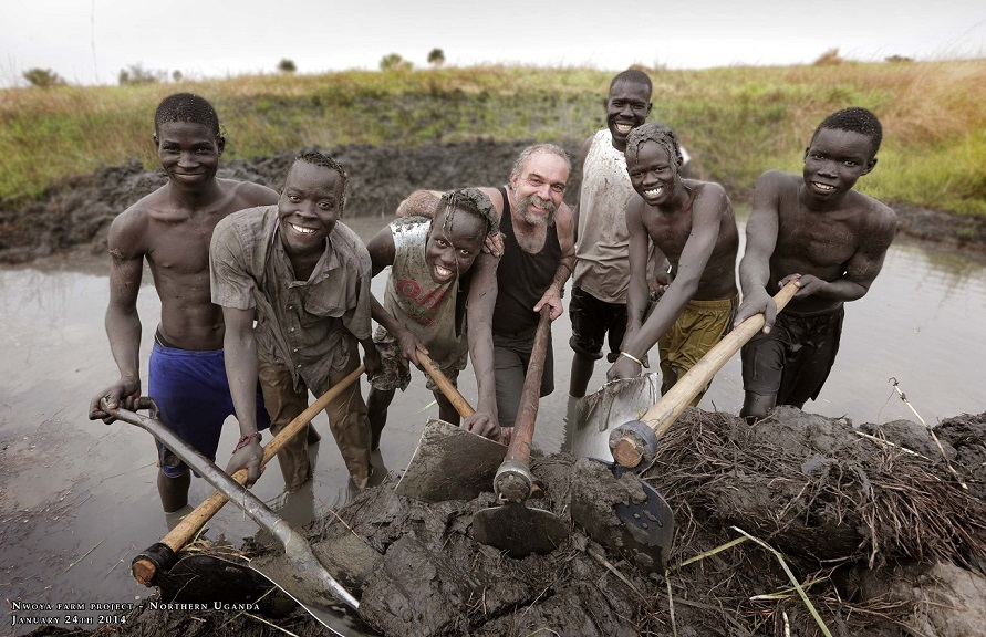 MGP   Sam Childers with some of the  Older kids hes rescued in years gone buy  Northern Uganda 2014 2